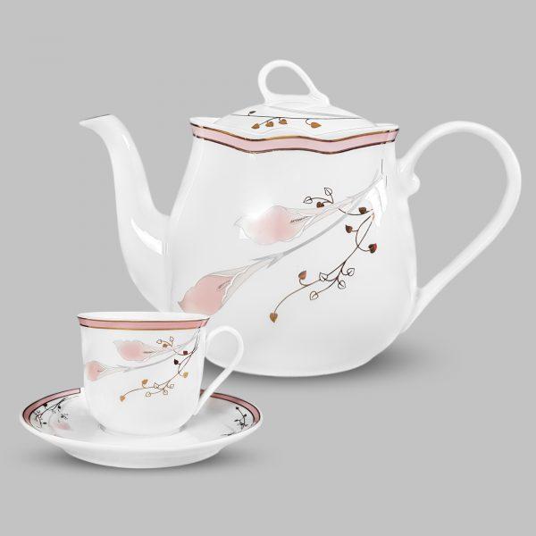 Bộ tách trà hoa 1012
