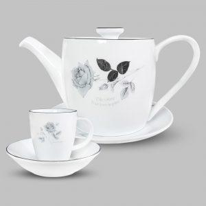 Bộ tách trà Hoa hồng đen
