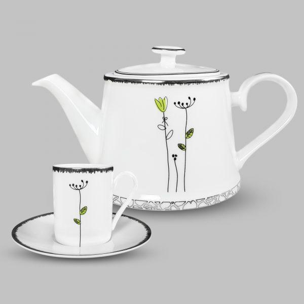 Bộ tách trà cỏ may mắn