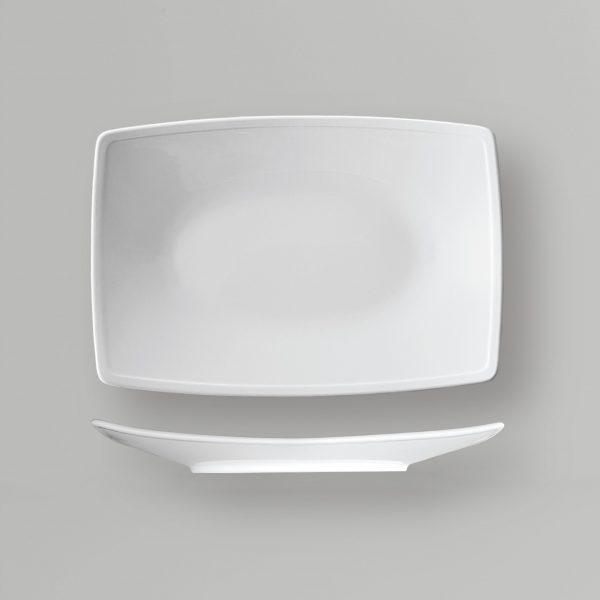 dĩa hình chữ nhật có viền