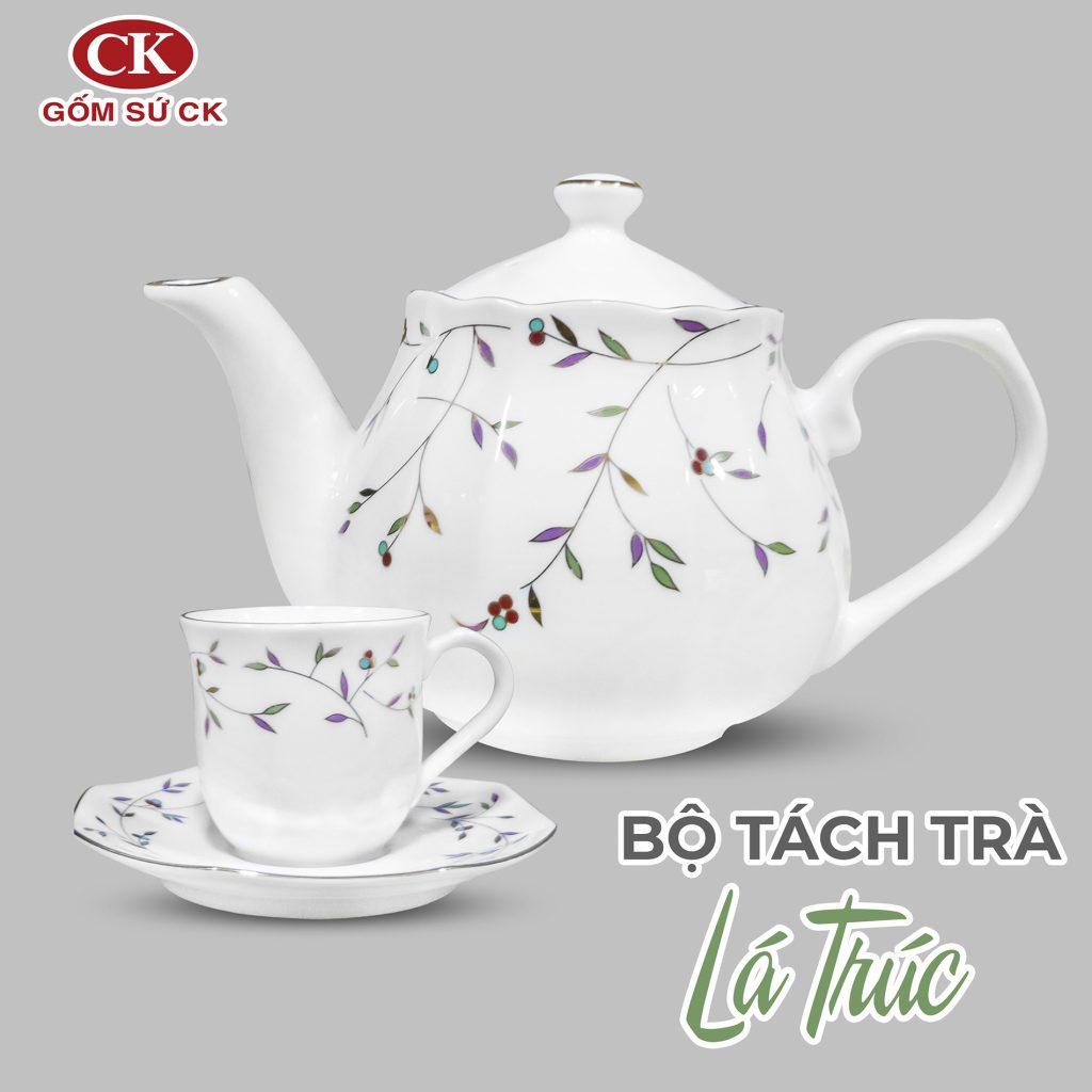 bộ tách trà lá trúc